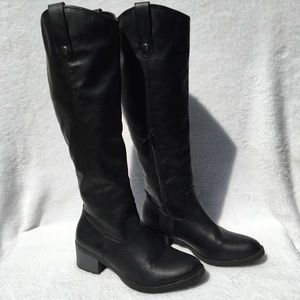 Rampage Black To The Knee Boots